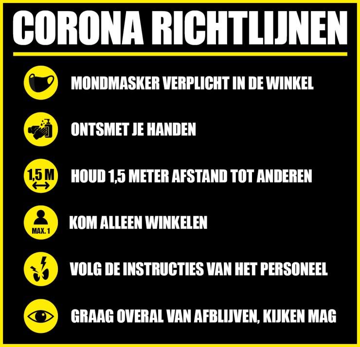 Corona richtlijnen