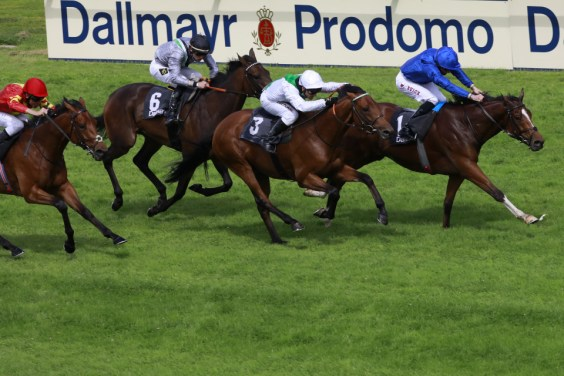 William Buick wins the Bayerisches Zuchtrennen. Photo: https://www.galoppmuenchen.de/ by way of Lajos-Eric Balogh - turfstock.com