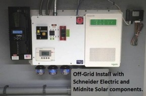 Off-grid Install incl Schneider and Midnite Solar Components