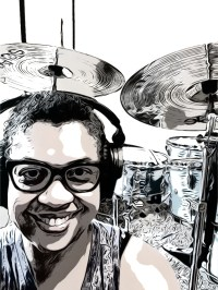 Practice the drums with Dr. Nadine Kelly