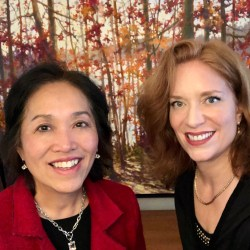 Small talk and networking expert Sharon Mah-Gin with & Andrea Wojnicki