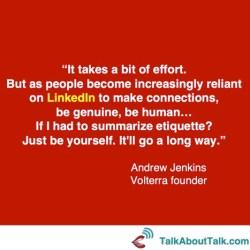 Andrew Jenkins LinkedIn quote
