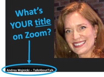 Andrea Wojnicki on Zoom