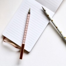 paper and pen to develop your personal brand