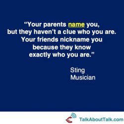 sting name naming identity quote