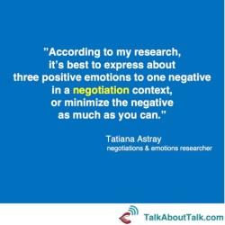 Tatiana Astray negotiation quote