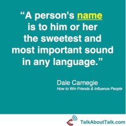 dale carnegie quote on names