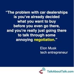 Elon Musk negotiation quote