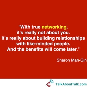 Sharon Mah-Gin quote networking online