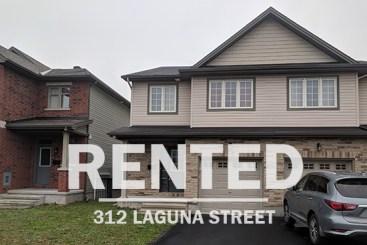 Ottawa real estate 312 Laguna St. town house in findlay creek rented