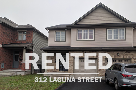 Ottawa real estate 312 Laguna St. town house in findlay creek rented