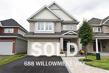 688 Willowmere Way single Famiy house in findlay creek sold