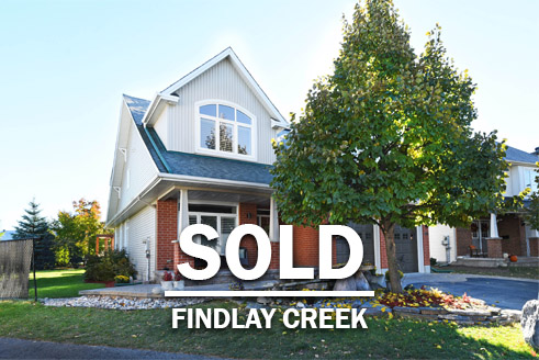 Ottawa Real estate agents findlay creek single family home sold
