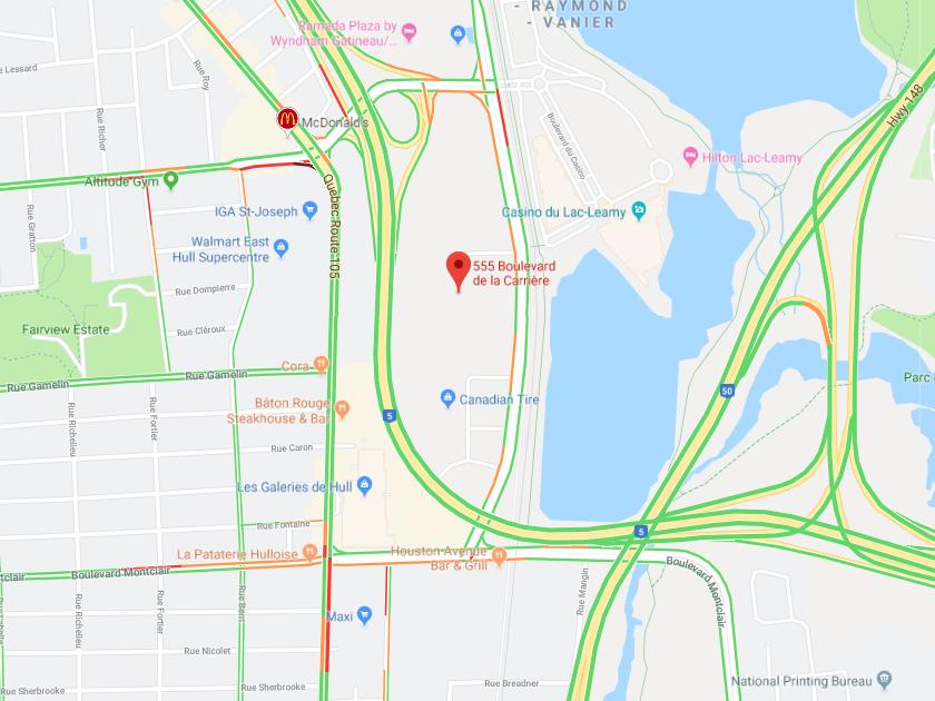 555 boulevard de la carriere map photo