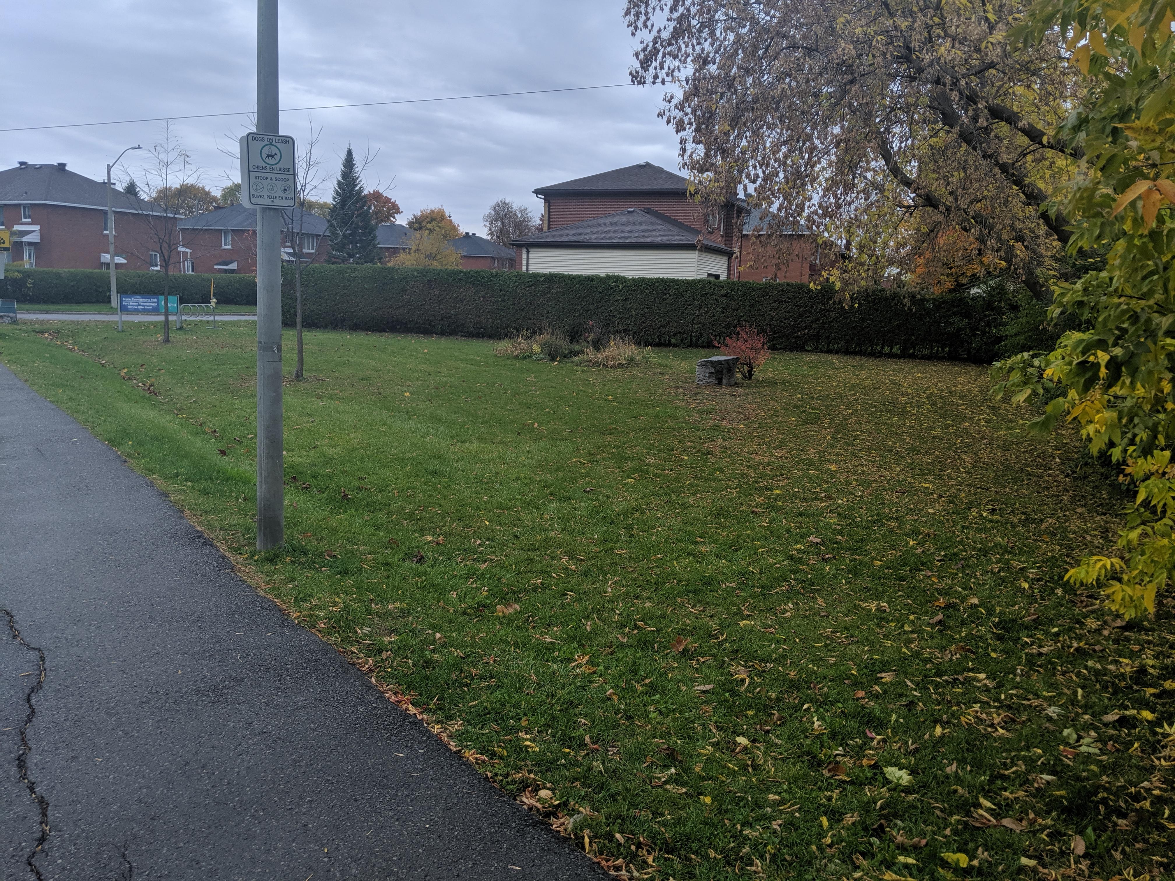 Bruce Timmermans Park north side