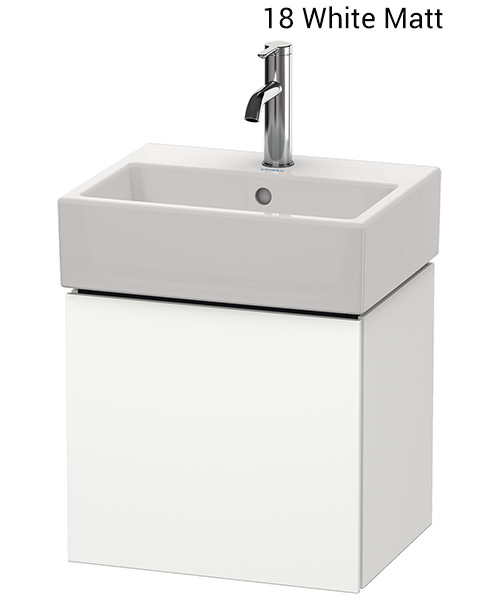 duravit l cube wall mounted 434mm vanity unit for vero air basin lc6245l1818