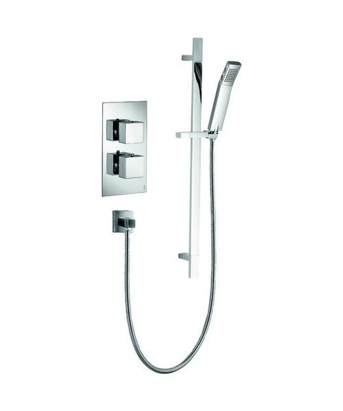 Pura Bloque2 Single Outlet Thermostatic Valve With Shower Kit