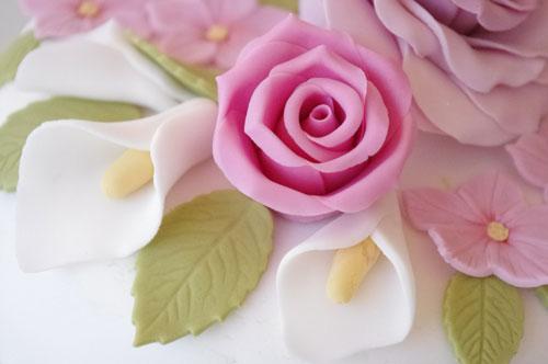 como hacer flores de fondant