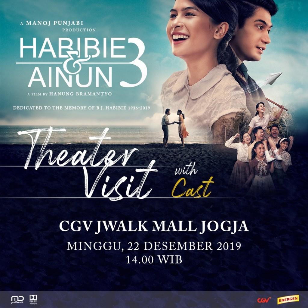 Nonton Bareng Habibie Ainun 3 di Jwalk Mall Jogja, Lippo Plaza Jogja dan Plaza Ambarrukmo