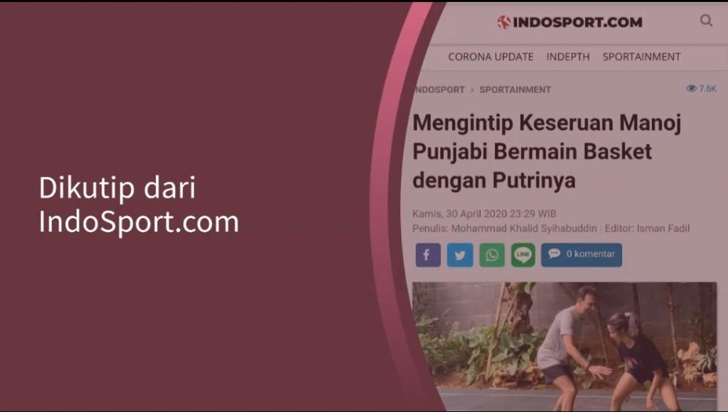 Keseruan Manoj Punjabi Bermain Basket dengan Putrinya