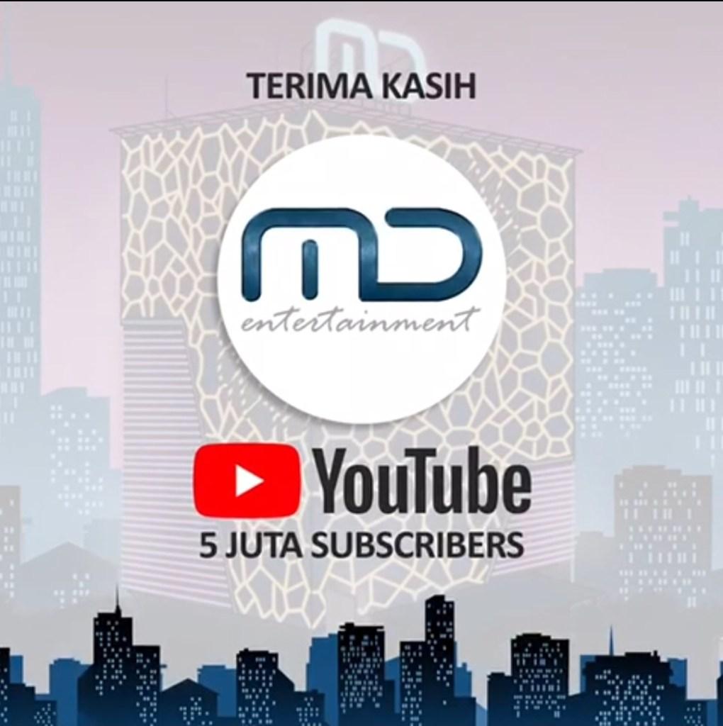Terima Kasih Untuk 5 JUTA SUBSCRIBERS dan Penonton Setia YouTube Channel MD Entertainment!