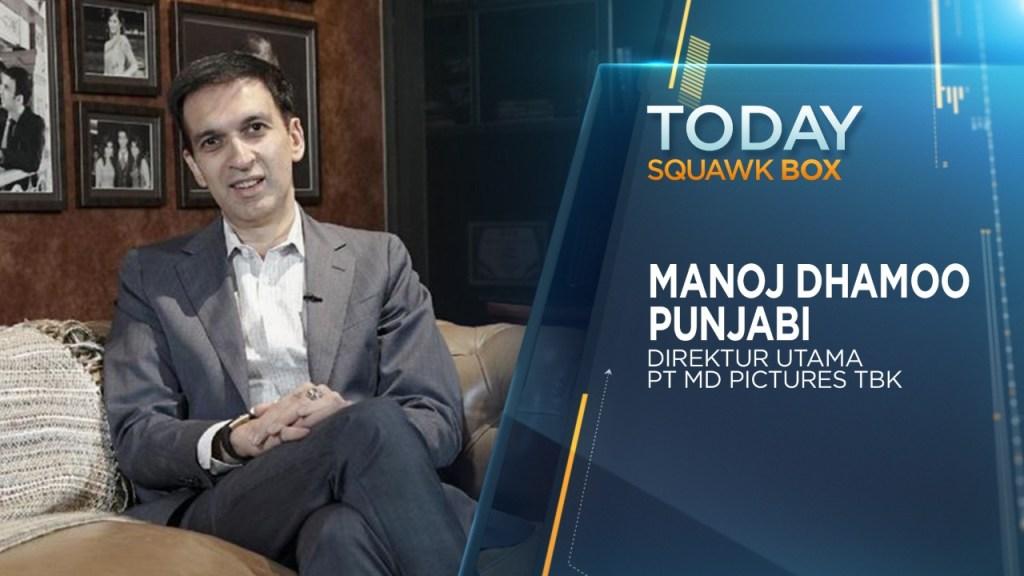 'Squawk Box' on CNBC Indonesia Membahas industri perfilman dan bagaimana MD Pictures dapat bertahan selama masa pandemi