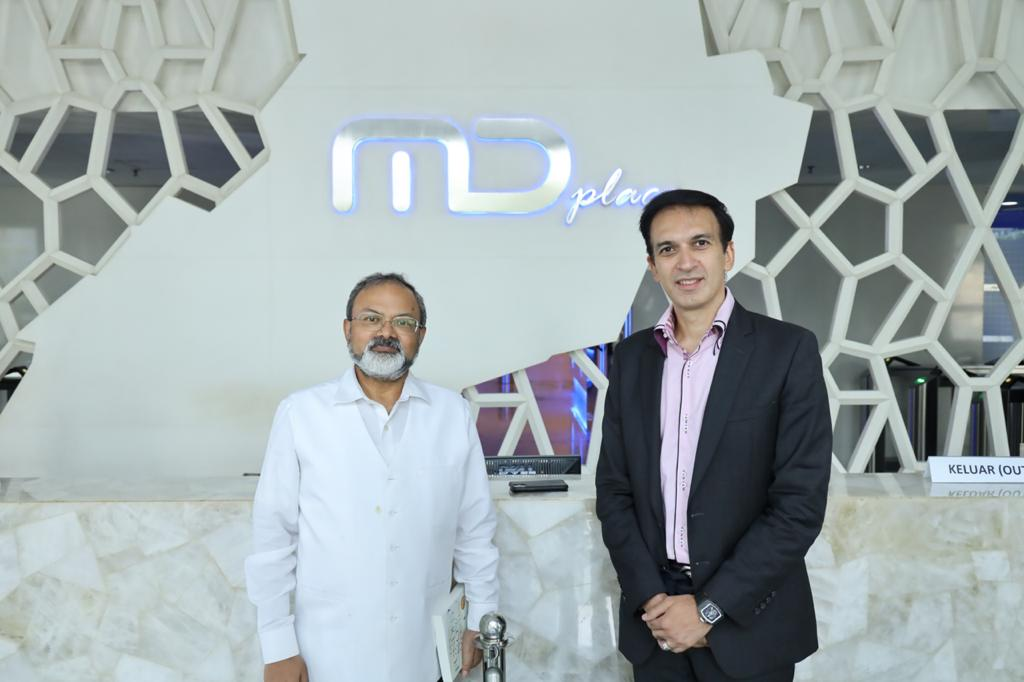 A special visit from Ambassador of India, Mr Manoj Kumar Bharti, today at MD