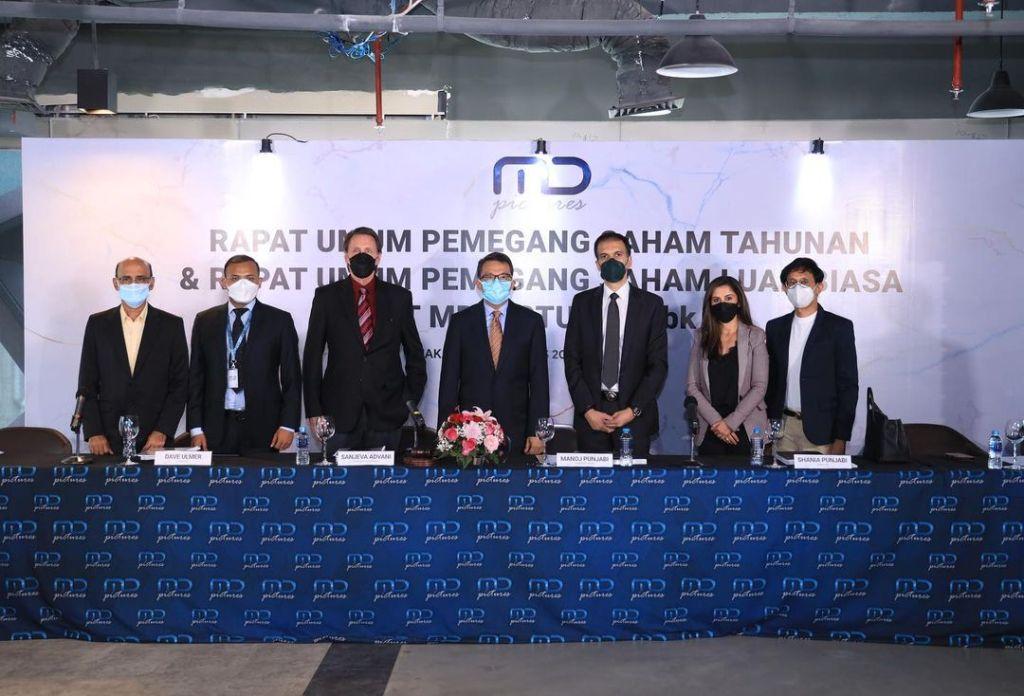 Rapat Umum Pemegang Saham PT MD Pictures Tbk pada tanggal 19 Agustus 2021