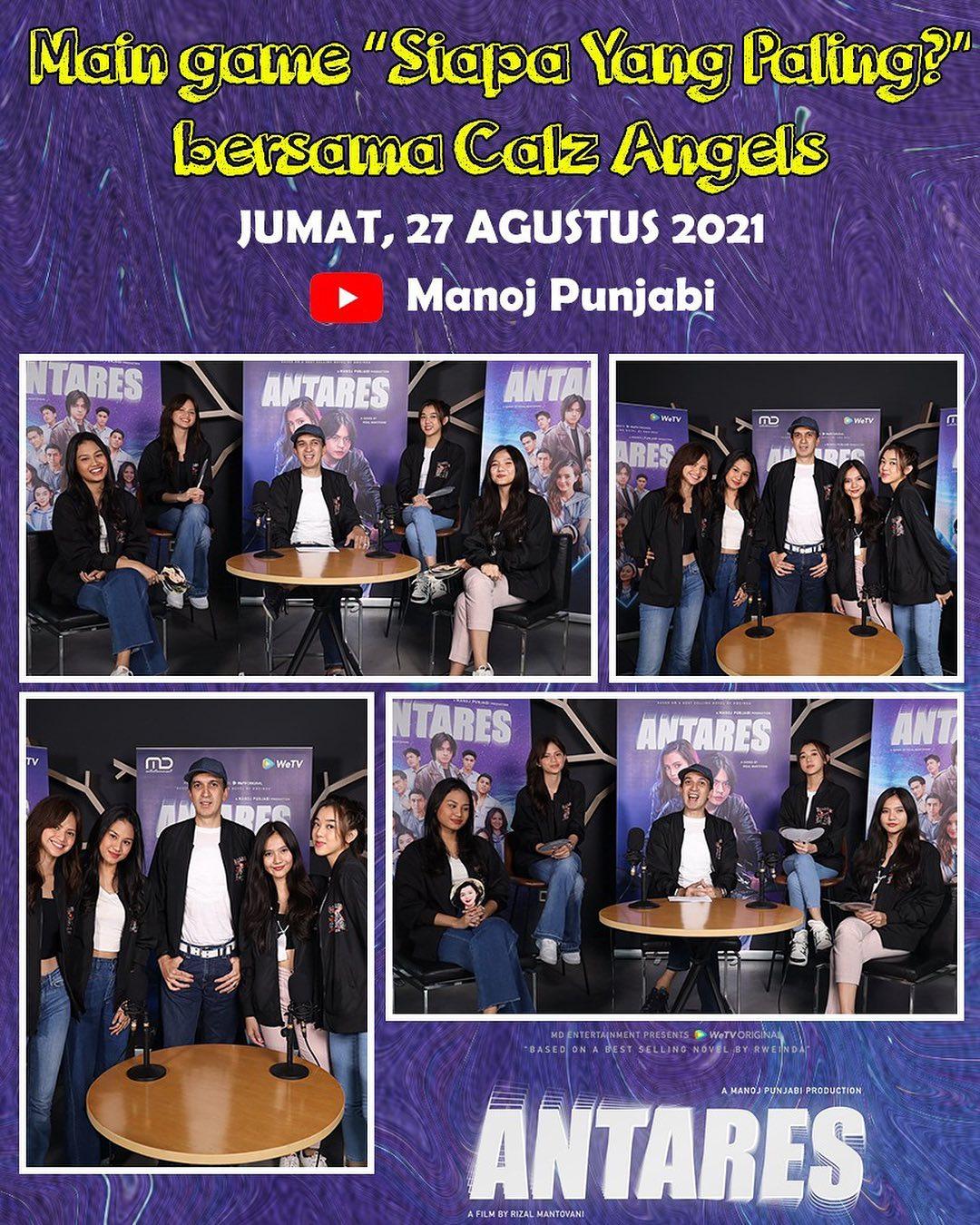Nantikan exclusive interview & games bersama Calz Angels Jumat ini di Youtube Manoj Punjabi
