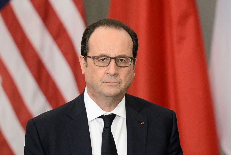 Le président François Hollande à Washington, le 1er avril 2016
