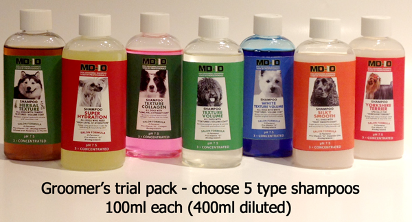 Groomers Trial Pack 4 X 100ml 400ml When Diluted