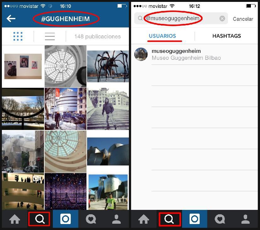 Uso de los hashtag en Instagram para buscar fotografías por nombre