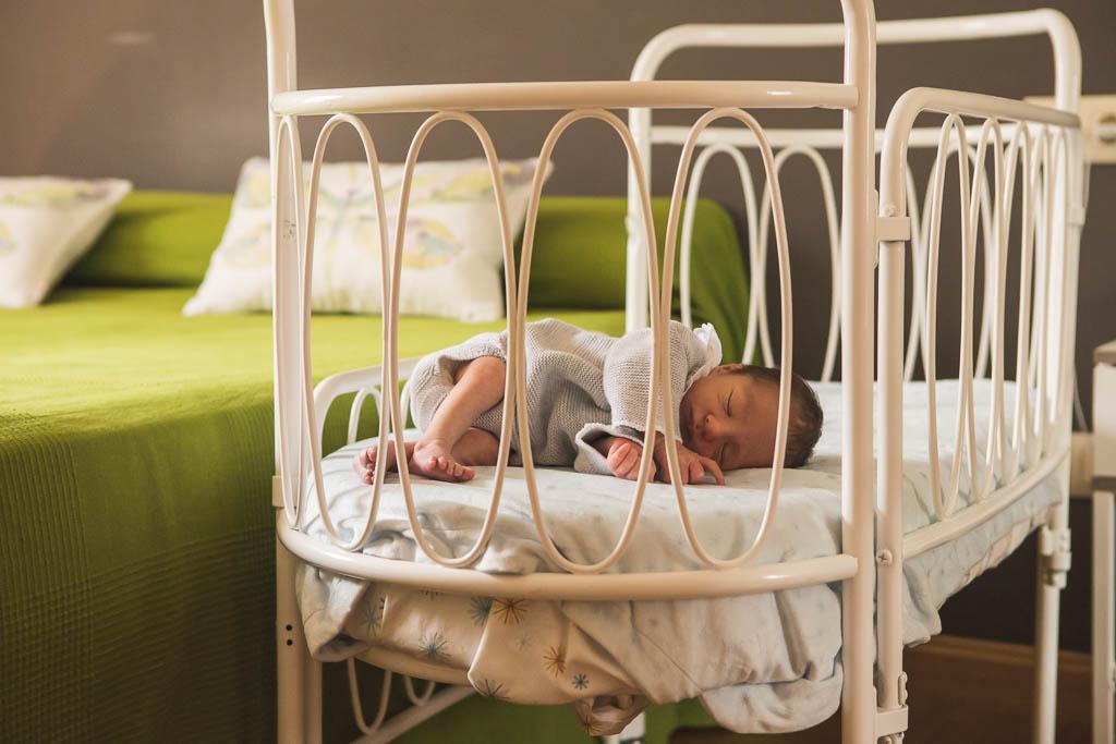 Sesión de fotos de recién nacido en casa