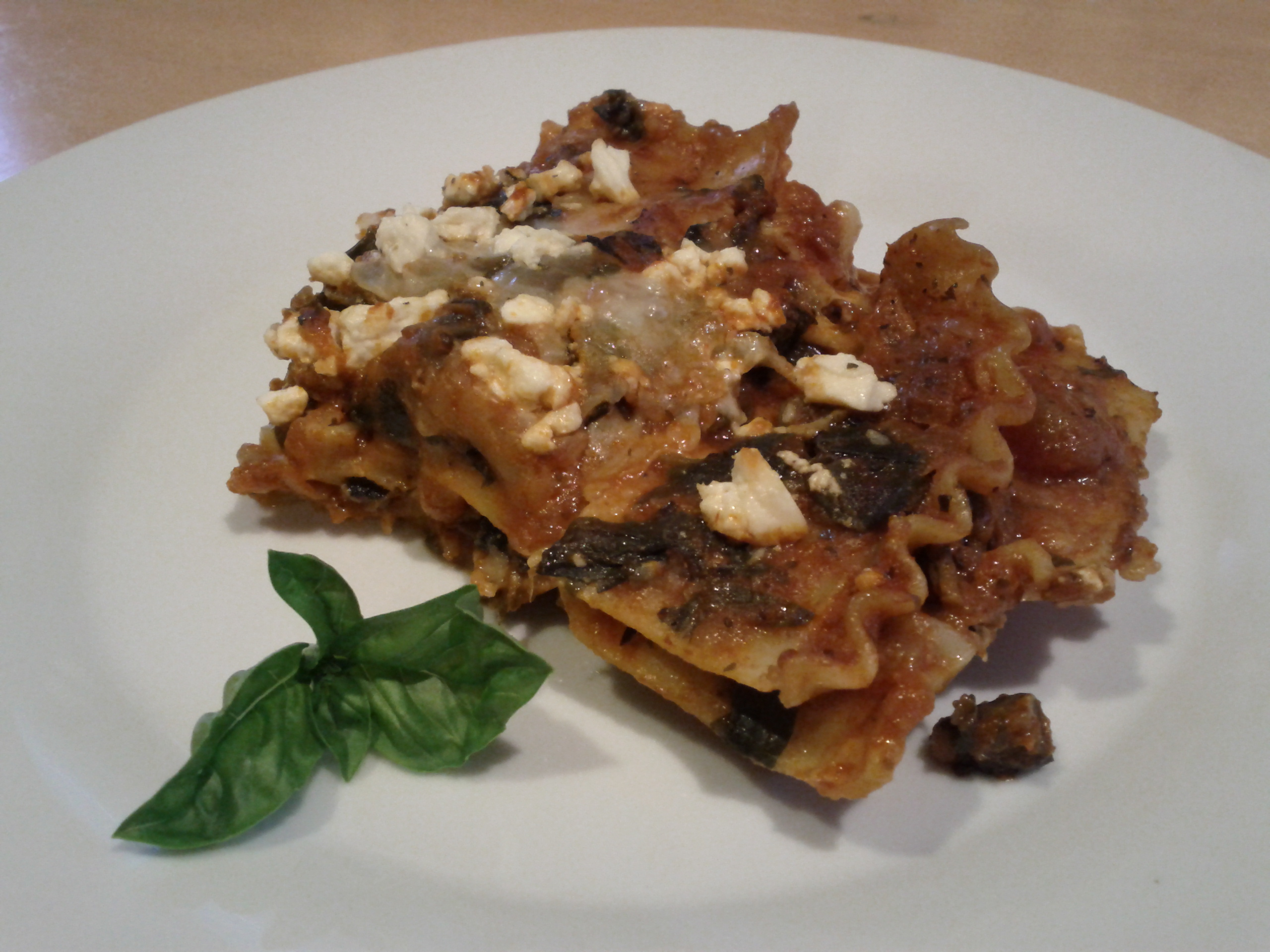 recipes course main dish pasta spinach mushroom lasagna