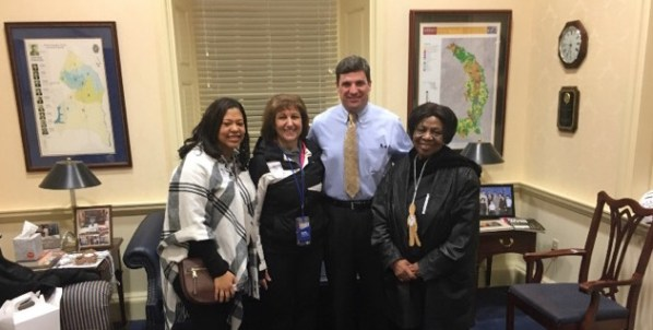 Educators visit State Senator Douglas Peters in Annapolis