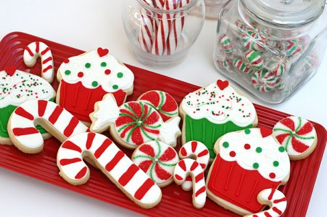 Cupcake-and-Candy-Cane-Cookies