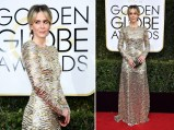 74th ANNUAL GOLDEN GLOBE AWARDS -- Pictured: (l-r) arrive to the 74th Annual Golden Globe Awards held at the Beverly Hilton Hotel on January 8, 2017.
