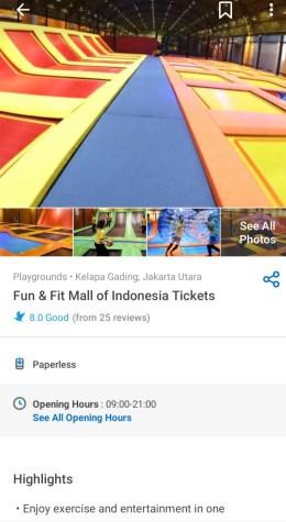Trampolin Mal of Indonesia