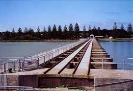 Goolwa Barrage. Click for more information.