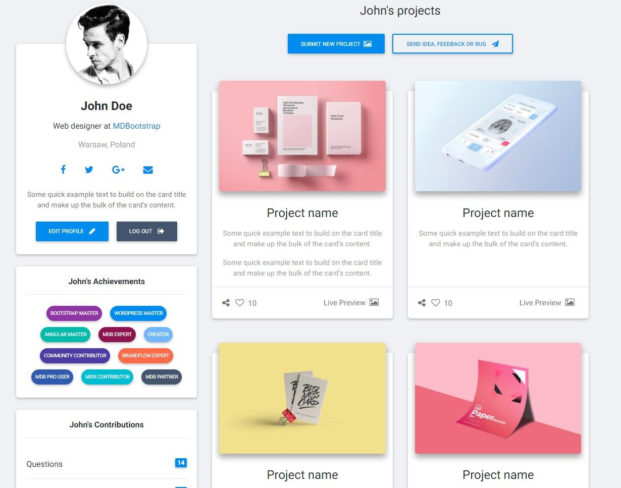 Profile Photo Upload Bootstrap