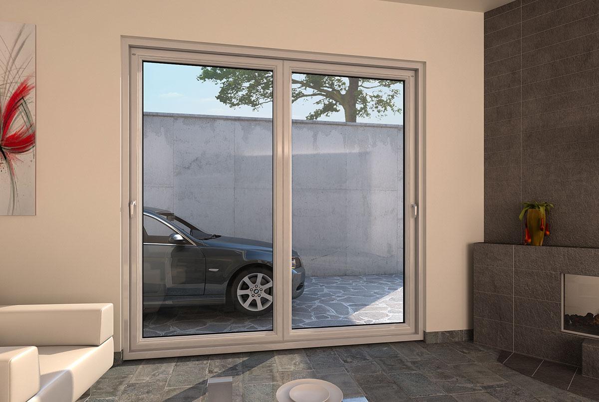 Porte finestre in pvc scorrevoli a Libro a Pioltello  Milano