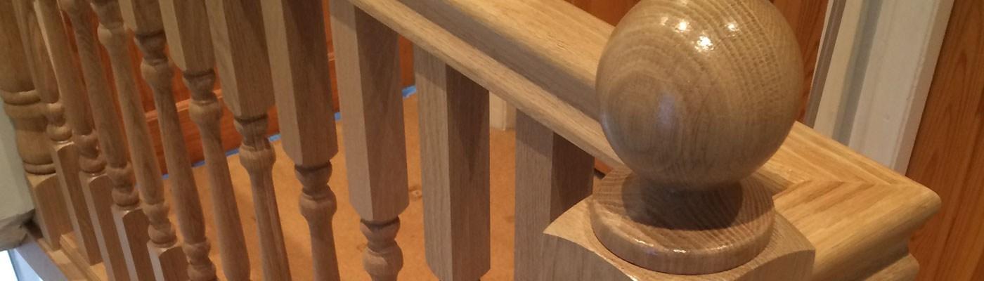 Oak Hemlock Sapele Ash And Pine Refurbished Stairs Birmingham   Hemlock Handrails For Stairs   Basement Stairs   Newel Caps   Wooden Stairs   Wood   Newel Posts