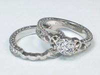 Engagement Ring -Wheat Engraved Celtic Bridal Set-ES1247BRBS