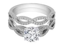 Engagement Ring -Infinity Bridal Set: Engagement Ring ...
