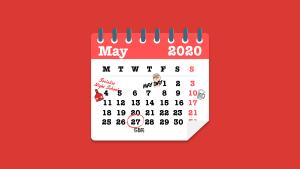 Graphic of a spiral bound calendar
