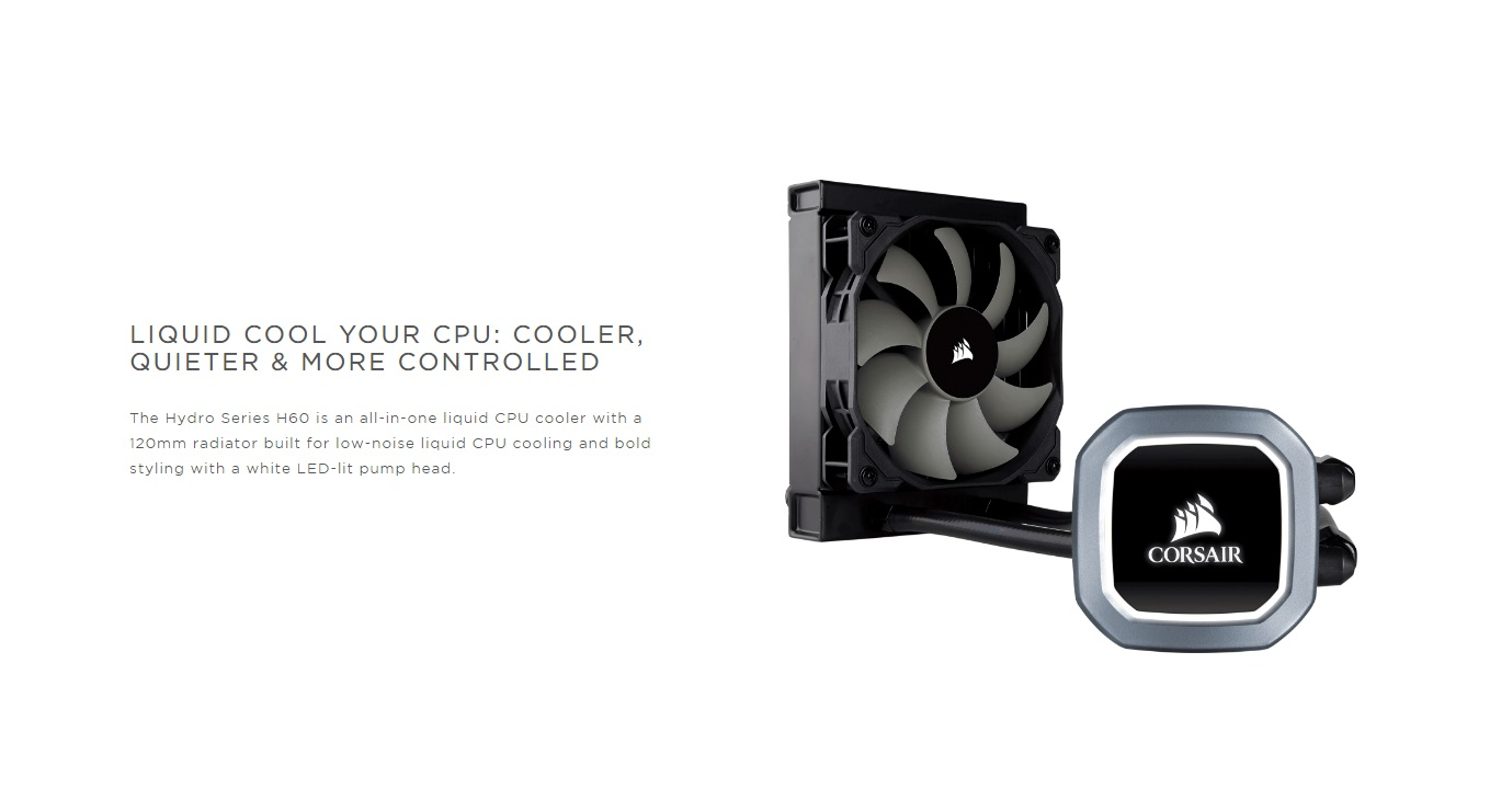 Buy Corsair Hydro Series, H60, 2018 Edition at Best Price