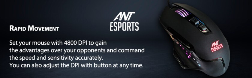 Ant Esports GM300 RGB Gaming mouse