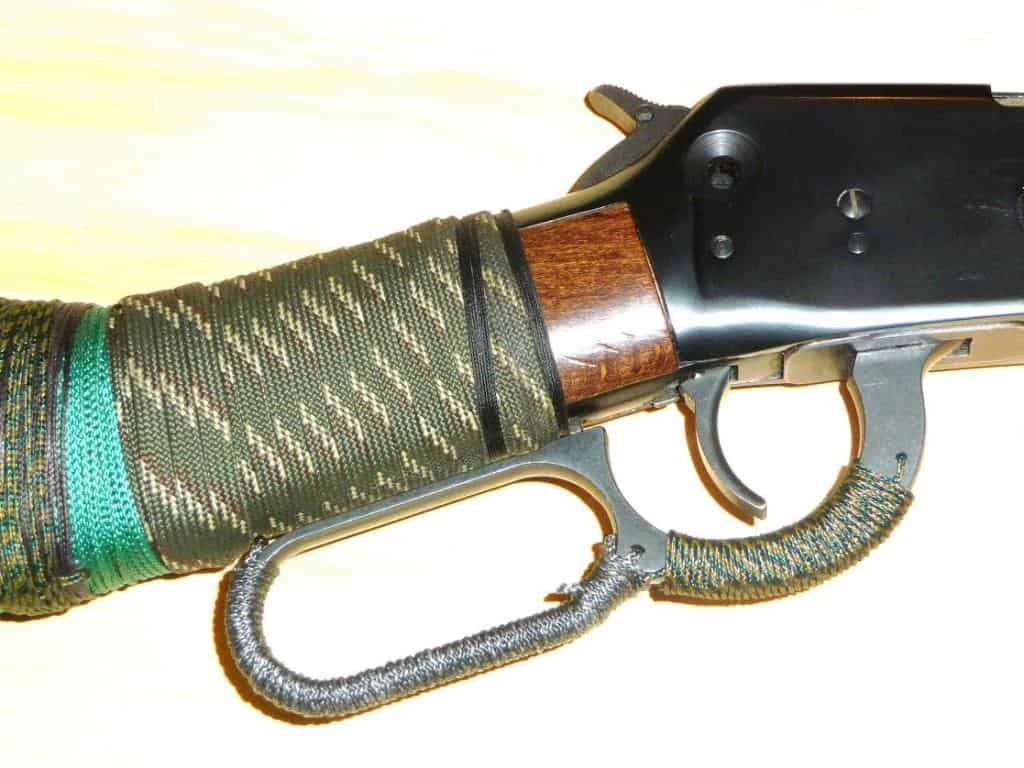 cordage wrapped around rifle stock