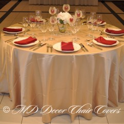Chair Covers Rose Gold Circle Furniture Dining Chairs Red And Tablecloth  Loris Decoration