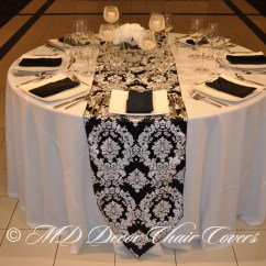 Black Chair Covers Party City Balance Ball Office And White Table Runner Pictures To Pin On